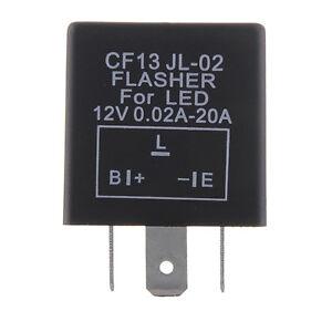 CF13-JL-02-3-Pin-Electronic-Motorcycle-Car-Flasher-Relay-Fix-LED-Hyper-Flash