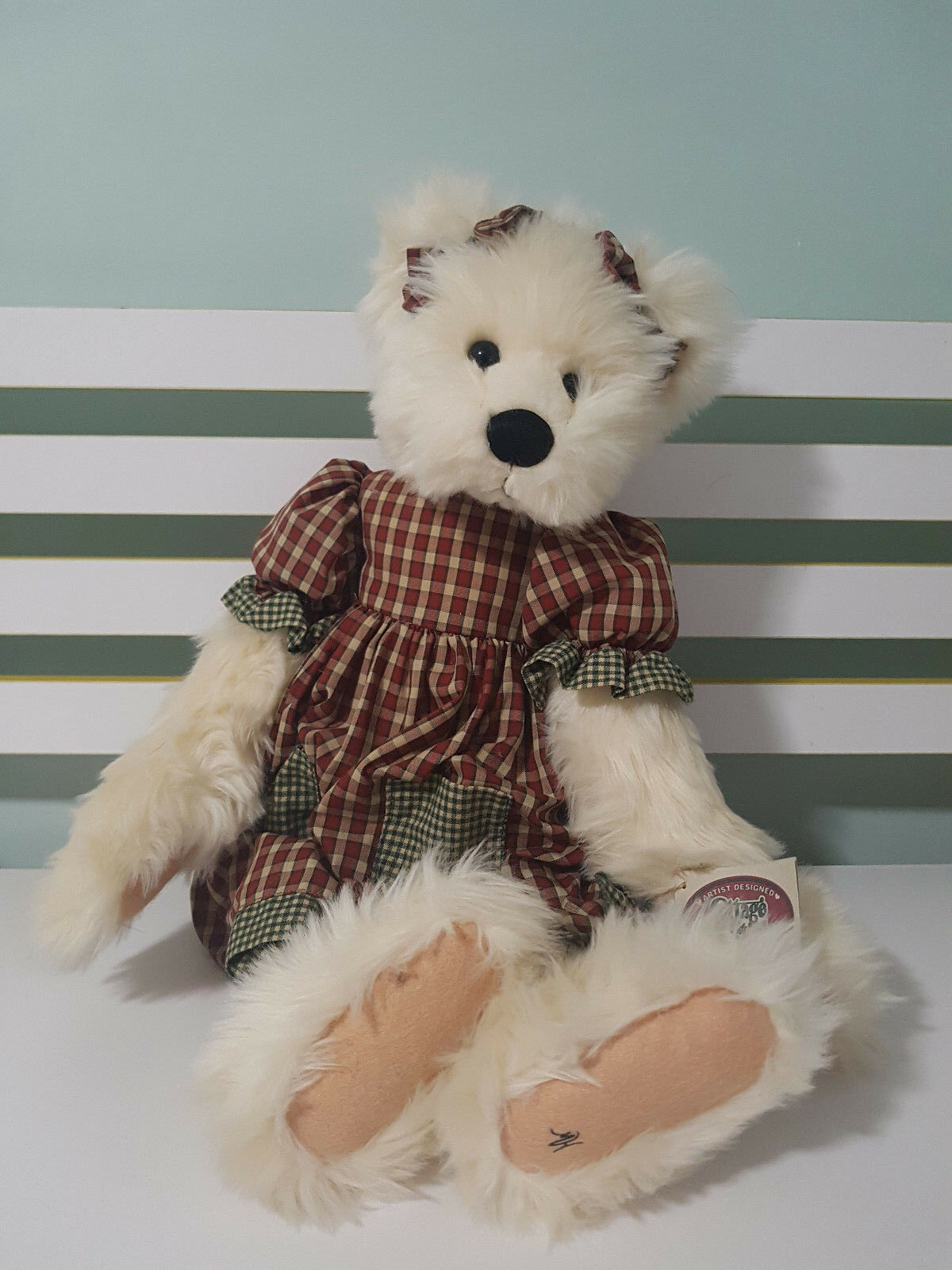 COTTAGE COLLECTIBLES BY GANZ TEDDY BEAR MICHELLE WITH TAG 50CM bianca  FUR