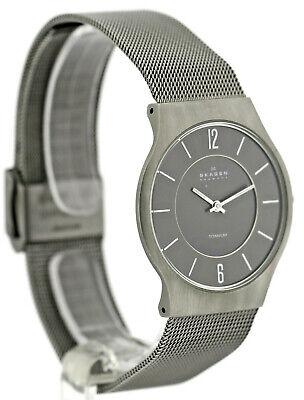 skagen titanium, herrenuhr, milanaiseband, 233lttm, 3 atm | ebay  ebay