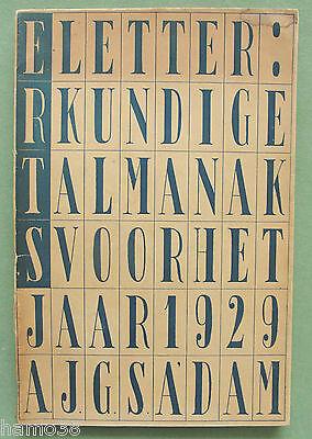 Gerrit RIETVELD 1929: ERTS typography cover, Sybold van Ravesteyn, Otto van Rees