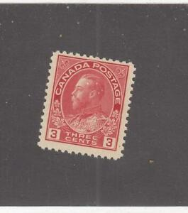 CANADA (MK697) # 109  VF-MLH  3cts  KING GEORGE V ADMIRAL /CARMINE/1923 CAT $30