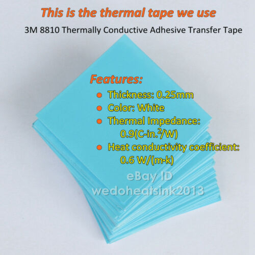 8.8*8.8*5mm pequeño fresco con Almohadilla Térmica 3 M 8810 aplicada Disipador térmico de aluminio 5 un