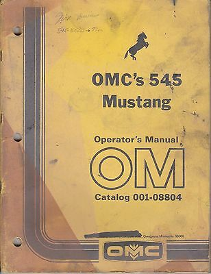 Mustang OMC 545 Skid Steer Loader Operator S Manual EBay