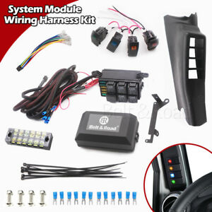 details about jeep jk 4rocker switch kit electronic 6 relay system module wire harness control Jeep Cherokee 4.0 Wiring Harness