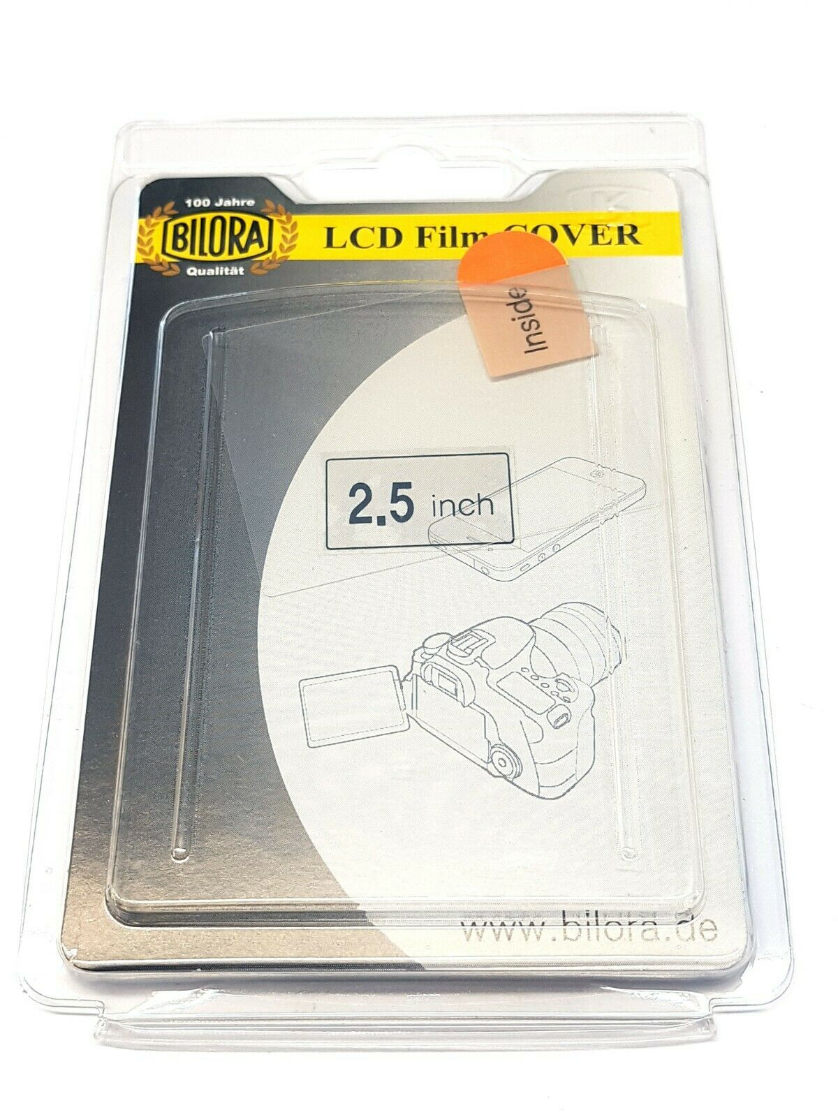1 X BILORA LCD Film Cover Protective for Cameras With 2.5