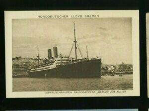 buy online website for discount various design Details about SS Berlin - North German Lloyd - Vintage Steamship Postcard
