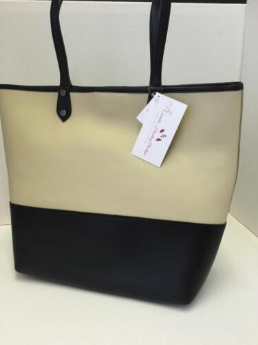Removable Inner Handbag Ladies Italian Leather Large 2 Tone Tote Shoulder Bag