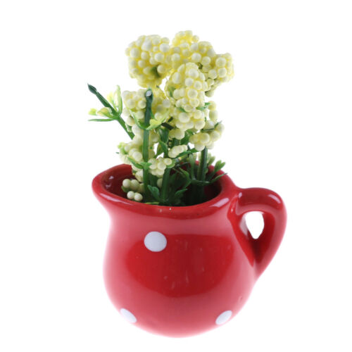 1:12 Fairy Dollhouse Miniature Vase Blumen Mini Hausgarten Dekoration ZP