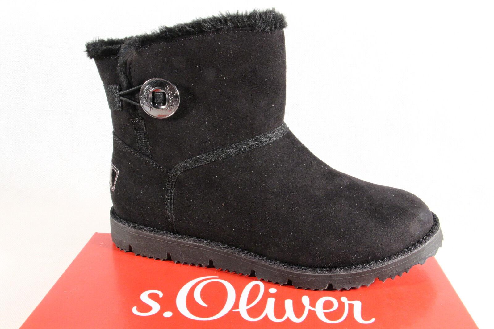 S.Oliver Damen Stiefel Stiefeletten Winterstiefel Stiefel schwarz 26412   NEU