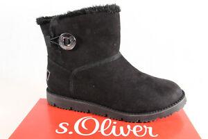 s-Oliver-Botas-mujer-botines-botas-de-invierno-Botas-Negro-26412-NUEVO