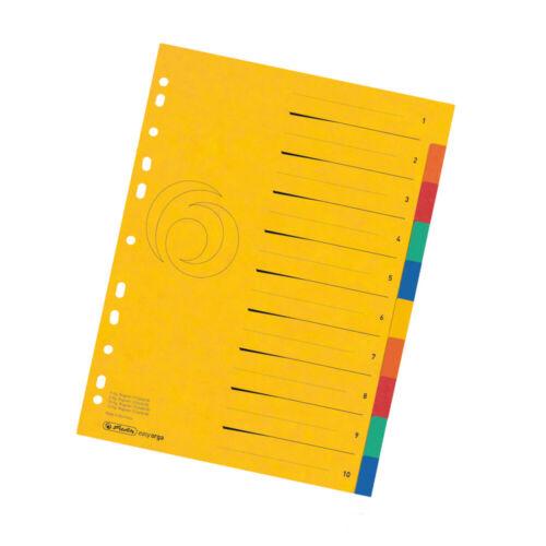 Herlitz Ordner Register 1-10 Colorspan-Karton DIN A4 Überbreit 10tlg.