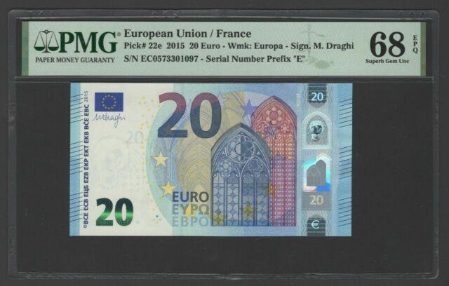 European Union/ France 20 Euro 2015 P22e Uncirculated Grade 68 Top Pop