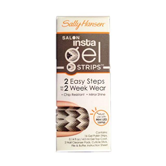 510 Sss-snake Eyes Sally Hansen Salon Insta Gel Strips 16 Ct
