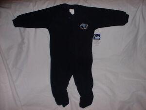 WONDER-KIDS-LS-Fleece-Pajamas-Sleeper-Navy-Blue-Monster-Truck-12-Months-NWT