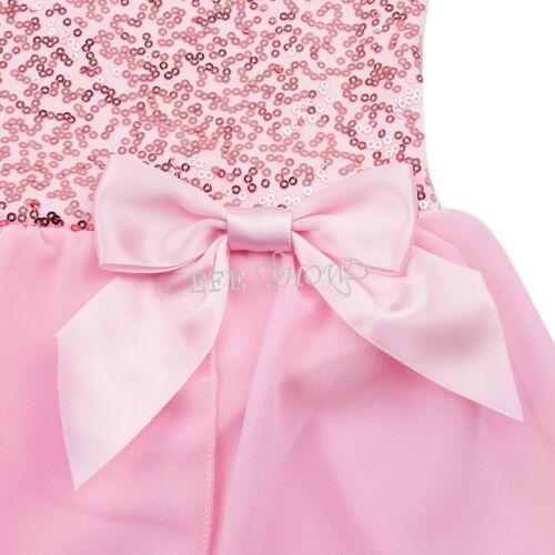 Girls Kids Dance Leotard Ballet Dress Tutu Skirt Dancewear Costume Age 2-12 Yrs