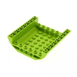 1-x-Lego-System-Boden-lime-hell-gruen-8x8x2-gewoelbt-Rumpf-Teil-Panele-Unterteil-F