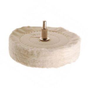 Polirscheibe für Bohrmaschine mehrlagige Politur Scheibe Ø 120 aus Baumwolle BGS