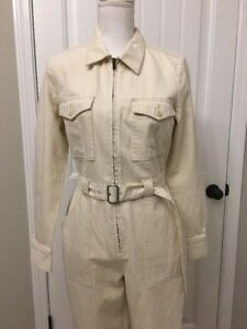 Rare New Sz J Utility Sample 6 Crew Oyster Denim Item In Jumpsuit Natural 7w7Hfxgq4