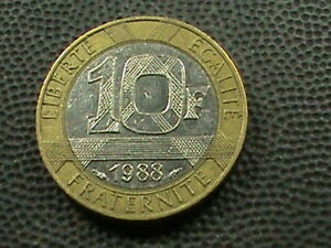 Frankreich-10-Franken-1988-Kombiniert