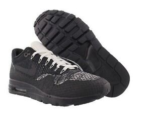 Details about NIKE Air Max 1 Ultra Flyknit Black White Oreo Running Shoes 6.5 Womens