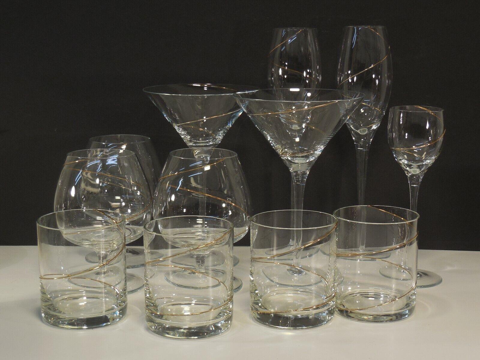 12 Gläser Leonardo Flirt Strada Goldspirale Glas Sekt Coctail Bier Saft Likör..