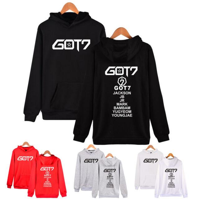 Kpop GOT7 Eyes ON You Hoodie JB Mark Bambam Loose Sweater Pullover Jacket