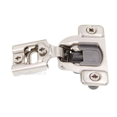 """40 Pack 1//2/"""" Overlay soft close face cadre Compact Cabinet Hinge 20 paires"""