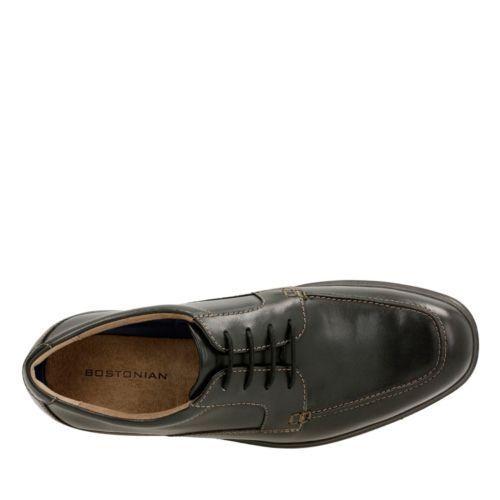 Bostonian Men/'s Tifton Edge Oxford Black Leather Dress Shoes 26119441