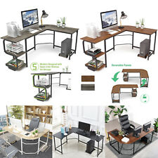L Shaped Corner Desk Computer Desk Pc Gaming Table Workstation For Home Office
