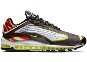 Mens-Nike-Air-Max-Deluxe-Volt-Habanero-Red-Black-White-AJ7831-003