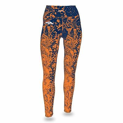 Spirited Zubaz Nfl Women's Zubaz Denver Broncos Logo Leggings Fan Apparel & Souvenirs Women's Clothing