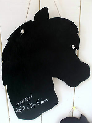 HORSE HEAD SHAPED chalk board christmas gift girl pony stable message sign