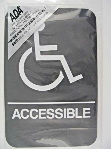 Duro Handicapped Accessible 6x9 ADA Plaque Sign 4336 #5mv