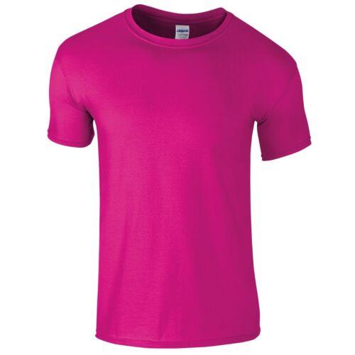 GILDAN Softstyle ® Gioventù Ringspun Cotone Plain T-shirt Bambini Top Scuola Casual Tee