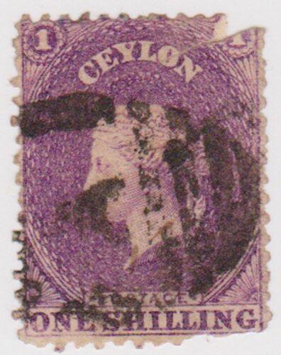 (CEY7) 1867 Ceylon 1/- Violet Chalon space filler ow114