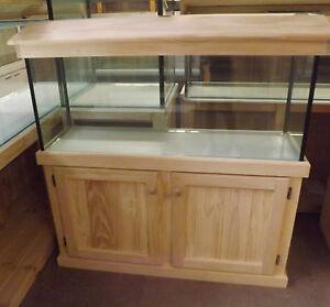 4ft aquarium glass fish tank plus cabinet hood and base for Fish tank hood