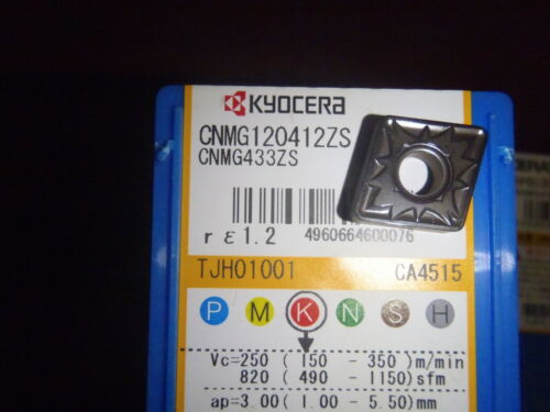 5 Kyocera Ceratip CNMG 433 ZS CA4515 Carbide Inserts for Cast Iron