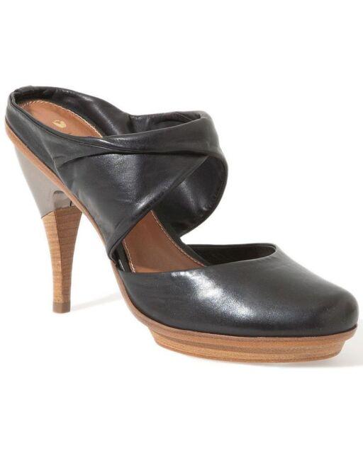 Damenschuhe 8.5 Leifsdottir Schuhes HEELS schwarz Leder Leder Leder Metal Mules 38.5     ea0057