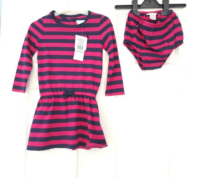 346225a70 Ralph Lauren baby girl jersey logo Dress 2pc Pant set 18 24 months NWT navy  pink