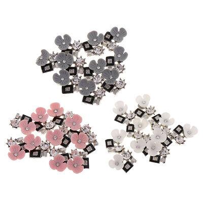 10 Crystal Rhinestone Button Flatback Cabochon Embellishments for Scrapbooking