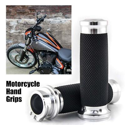 1inch 25mm CNC Edge Cut Handlebar Hand Grip For Harley  Sportster Chrome