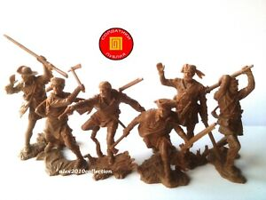 """NOUVEAU! """"Publius"""" - Trappeurs-Texans Set 2, 6 Caoutchouc soldats 1:32"""