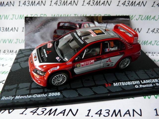 voiture 1/43 IXO Altaya Italie : MITSUBISHI Lancer WRC Panizzi Monte Carlo 2005