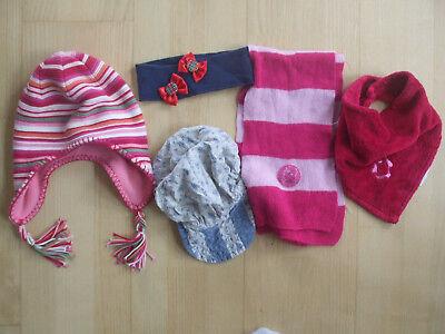 5 Pezzi Copricapo E/o Sciarpa Set Per Bambine-mostra Il Titolo Originale Novel (In) Design;
