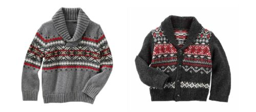 YOU CHOOSE! NWT OshKosh Baby B/'Gosh Shawl Collar Cardigan Sweaters Size 9 Mo