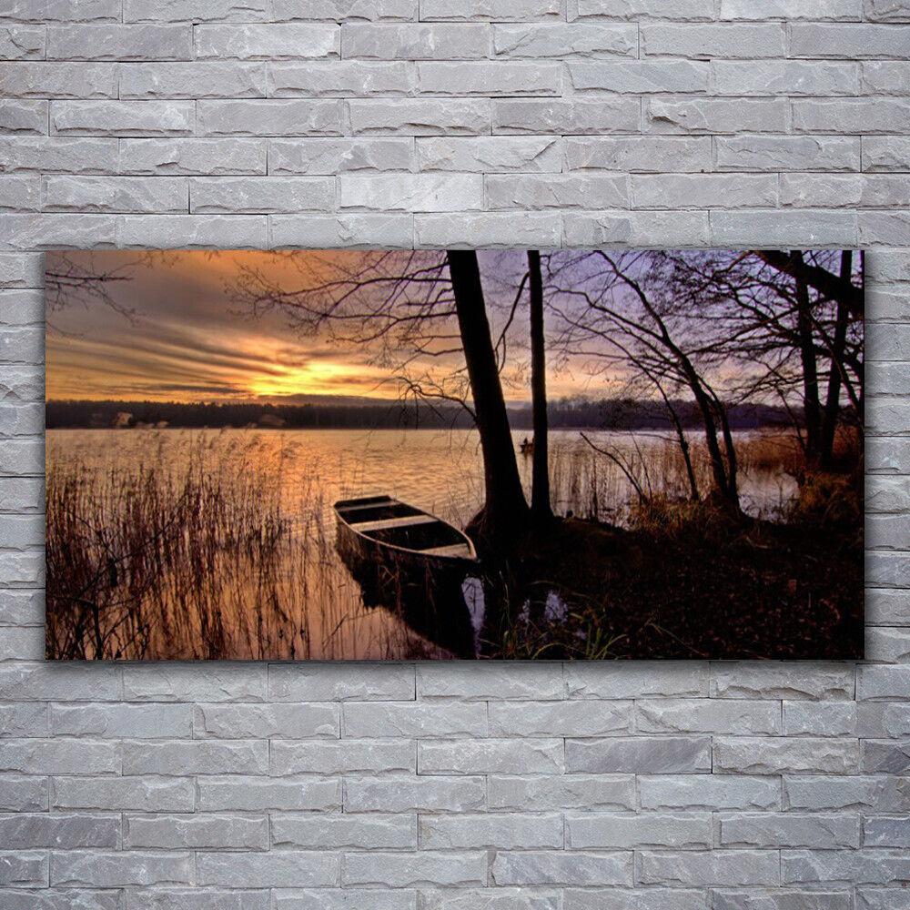 Verre Imprimer Wall Art Image 120x60 Photo mer bateau paysage