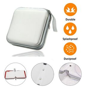 40-CD-DVD-Carry-Case-Disc-Storage-Holder-CD-Sleeve-Wallet-Ideal-for-Car-SILVER