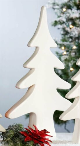 Weihnachtsdekoration Tanne Nordic Porzellan weiß 38 cm