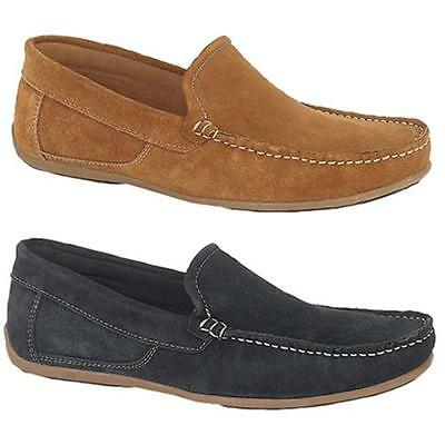 Mens New Suede Leather Slip On Moccasin / Driving Loafers comfort Shoes 6 - 12