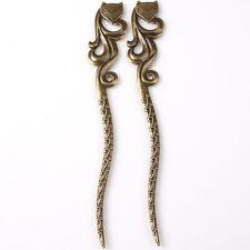 3pcs 145103 Wholesale Flower Fox Bronze Tone Alloy Bookmark Fit Jewelry Finding